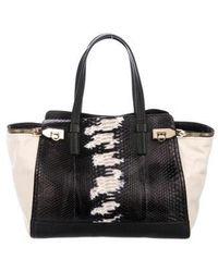 8a0496925c Lyst - Ferragamo Ponyhair   Leather Verve Tote Black in Metallic
