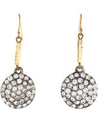 Lulu Frost - Pavé Crystal Drop Earrings Gold - Lyst