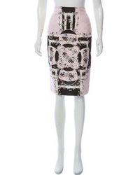 Erdem - Silk Printed Skirt - Lyst