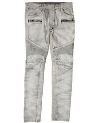 Balmain - 2016 Biker Jeans W/ Tags Grey - Lyst