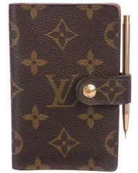 Louis Vuitton - Monogram Mini Agenda Cover Brown - Lyst