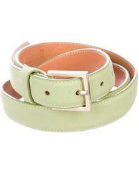 Loro Piana - Leather Waist Belt Mint - Lyst
