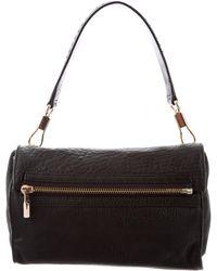 Elizabeth and James - Leather Fold-over Bag Black - Lyst