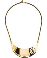 Pamela Love - Crescent Moon Collar Necklace Gold - Lyst