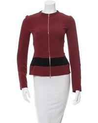 Narciso Rodriguez - Merlot & Striped Jacket - Lyst
