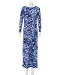 a8ef3f6fc Lyst - Michael Michael Kors Michael Kors Pleated Maxi Dress Navy in Blue