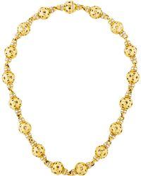bvlgari 18k sphere link necklace yellow lyst