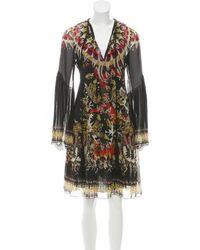 Roberto Cavalli - Printed Silk Dress - Lyst