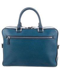 Louis Vuitton - Epi Porte Documents Business Celeste - Lyst