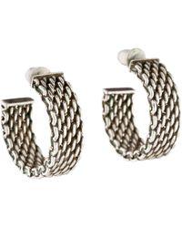 Tiffany & Co. - Somerset Hoop Earrings Silver - Lyst