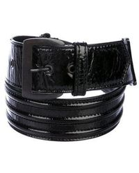 CoSTUME NATIONAL - Patent Leather Waist Belt - Lyst