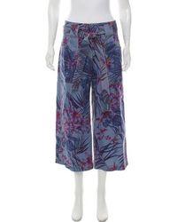 SUNO - Floral Wide-leg Pants - Lyst