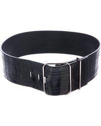 Roger Vivier - Patent Waist Belt Black - Lyst