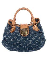 90b1ee0c2aa5 Lyst - Louis Vuitton Mini Pleaty Raye Customise Bag Blue in Natural