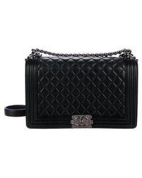 3abd19bdc39b Lyst - Chanel 2017 Medium Plus Boy Bag Silver in Metallic