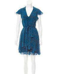 Jonathan Saunders - Printed Silk Dress - Lyst