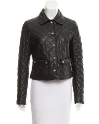 Michael Kors - Quilted Leather Jacket - Lyst