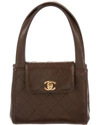 Chanel - Vintage Lambskin Cc Handle Bag Gold - Lyst