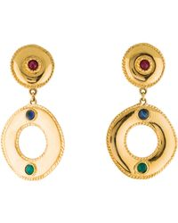 Givenchy - Resin Circle Drop Earrings Gold - Lyst