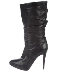 Brian Atwood - Leather Mid-calf Boots - Lyst