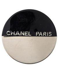 Chanel - Round Resin Brooch Silver - Lyst