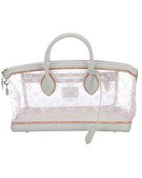 12bfe9ece775 Lyst - Louis Vuitton Monogram Transparence Lockit Bag White in Natural