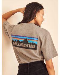 Reformation Patagonia Men's P-6 Logo Responsibili-tee - Multicolor