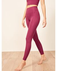 Reformation Girlfriend Collective Hi Rise Full Length Pant - Pink