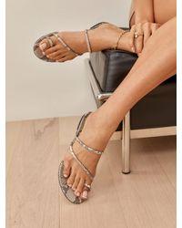 Reformation Ludo Toe Ring Strappy Flat Sandal - Multicolour