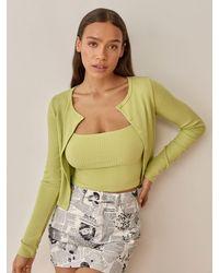 Reformation Ruby Cardigan Set - Green