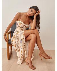 Reformation Kourtney Dress - Brown