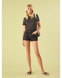 Reformation - Ginger Relaxed Jean Short - Lyst