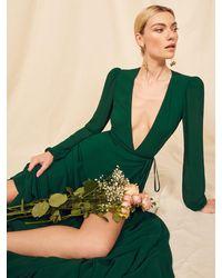 Reformation Milan Dress - Green