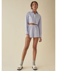 Reformation Willow Pajama Set - Blue