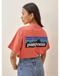 Reformation Patagonia Men's P-6 Logo Responsibili-tee - Multicolour