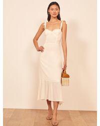 Reformation Petites Nikita Dress - White