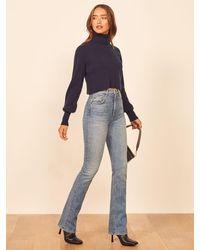 Reformation Peyton High Rise Bootcut Jeans - Blue