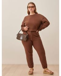 Reformation Classic Sweatpant - Brown