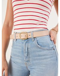 Reformation Maximum Henry Wide Oval Brass Buckle Belt - Natural
