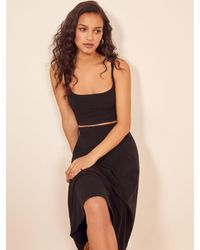 Reformation Molly Two Piece - Black