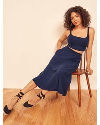 Reformation Molly Two Piece - Blue