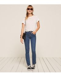 Reformation - Flax Relaxed Crew Tee - Lyst