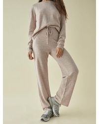 Reformation Cashmere Sweatsuit - Natural