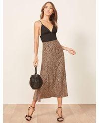 Reformation Petites Bea Skirt - Brown