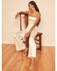 Reformation Stormy Jumpsuit - White