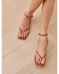 Reformation Maryam Thong Flat Sandal - Multicolour