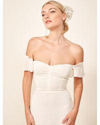Reformation Butterfly Dress - White