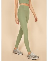 Reformation Girlfriend Collective Hi Rise Full Length Pant - Green