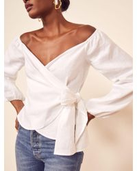 Reformation Hart Top - White