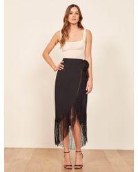 Reformation Fiesta Skirt - Black